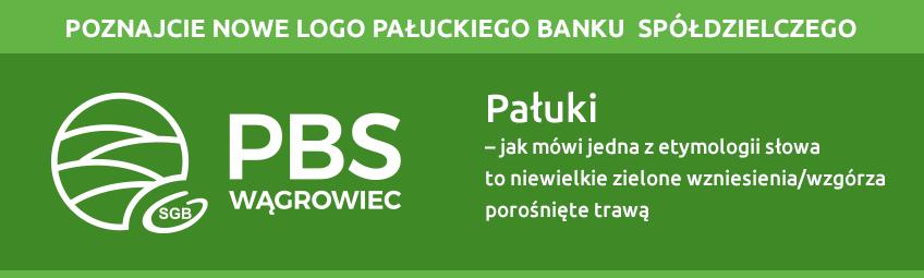 nowe logo Pałuckiego Banku Spółdzielczego PBS Wągrowiec