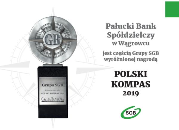 Nagroda Polski Kompas 2019 dla Spółdzielczej Grupy Bankowej
