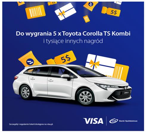 Płać kartą Visa i wygraj Toyotę