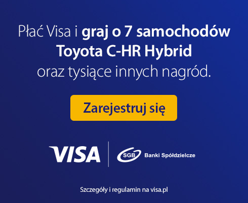 Płać Visa i wygraj Toyotę!